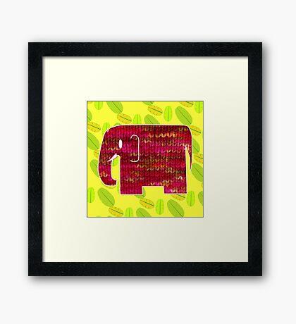 knitty elephant Framed Print