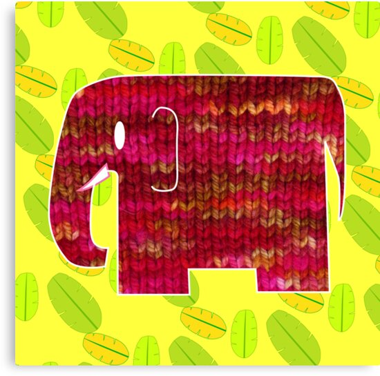 knitty elephant by Trish Peach