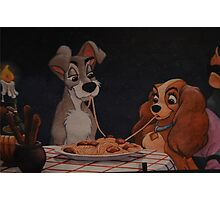 Disney Lady and the Tramp Disney Italian Dinner Disney Tony's Spaghetti Photographic Print