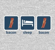 Bacon Sleep Bacon Kids Tee