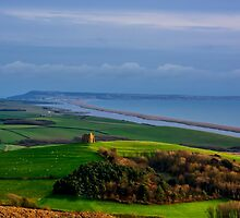St Catherines Chapel and Chesil Beach by Chris Thaxter
