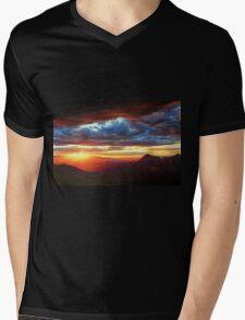Sedona Sunset Mens V-Neck T-Shirt