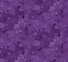 Amethyst Orchid Square Pixel Color Accent by SaraValor