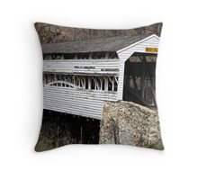 Knox Bridge at Valley Forge Throw Pillow