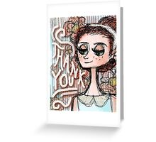 Erin Floral Thank You Card Greeting Card