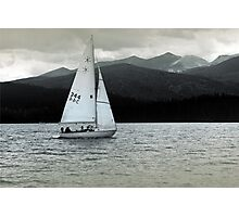 Solitary Sail Photographic Print