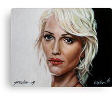 battlestar galactica - cylon 6 - tricia helfer - oil on canvas Canvas Print