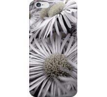 Grey flowers iPhone Case/Skin