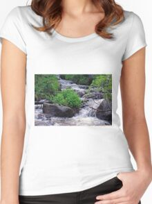 Falling Water Women's Fitted Scoop T-Shirt