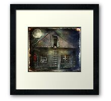What Happens in Old Houses At Night? Framed Print