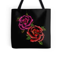 Old School Tattooed Roses Tote Bag