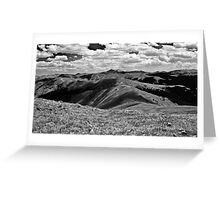 Over The Hills Greeting Card