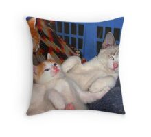 Chillin out together Throw Pillow