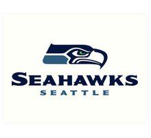 Seattle Seahawks Logo Art Print