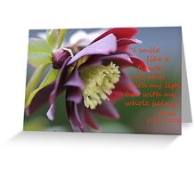 I Smile, Hellebore Flower with quote Greeting Card