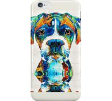 Colorful Boxer Dog Art By Sharon Cummings  iPhone Case/Skin