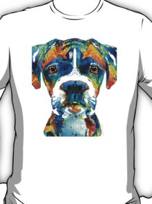 Colorful Boxer Dog Art By Sharon Cummings  T-Shirt