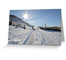 Snowy scene Greeting Card