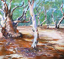 Silverton River Gums Oil  by Virginia McGowan