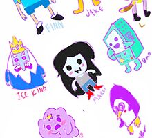 adventure time sketchy chibi by OwliSketches