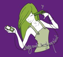 Blasting Music Through My Mind - Green by Lisa Furze