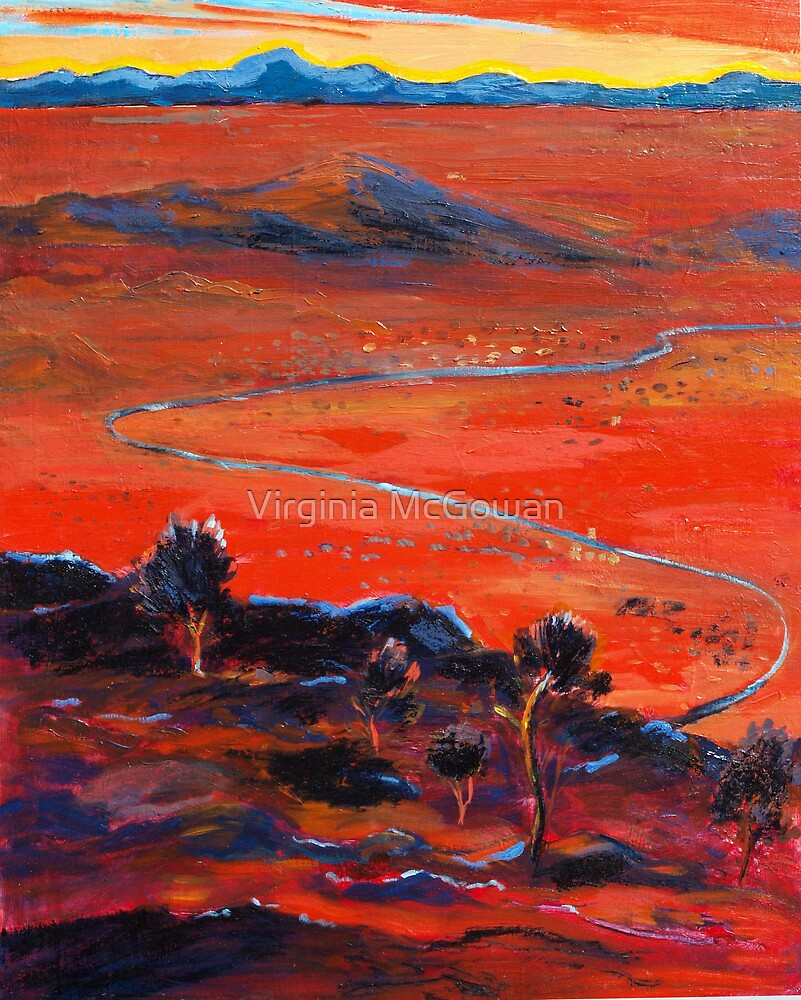 The Living Desert sunset Broken Hill  Sunset  by Virginia McGowan