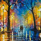 Fog In The Park 3 — Buy Now Link - www.etsy.com/listing/230734377 by Leonid  Afremov
