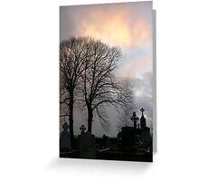 End of Day at Monasterboice Greeting Card