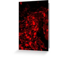 Marble - Red Greeting Card