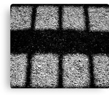 Shadows on Gravel Canvas Print