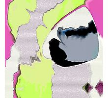 Abstract Pink Lime and Grey Photographic Print