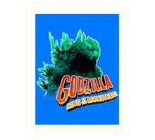 Godzilla King of the Monsters Art Print