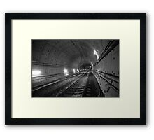 Urban Landscape # 31 Green Square Tunnel Framed Print