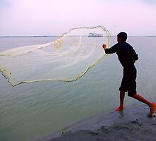 How to throw a fishing net..and catch a cruise vessel! by John Mitchell