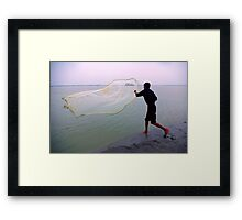 How to throw a fishing net..and catch a cruise vessel! Framed Print