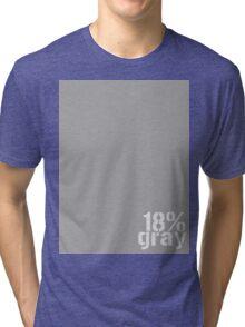 18% Gray Card Tri-blend T-Shirt