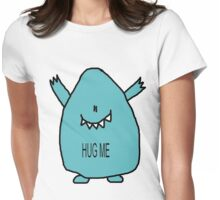 Hug Me! - in blue Womens Fitted T-Shirt