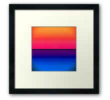 Bright Neon Abstract Sunrise Framed Print