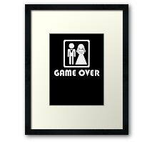 Marriage … Game over (2) Framed Print