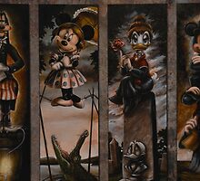 Disney Haunted Mansion Disney Doom Buggy Stretching Portraits by notheothereye