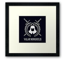 Game of Thrones: The Faceless Men (Valar Morghulis) Framed Print