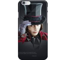 Willy Wonka in Poly Style iPhone Case/Skin