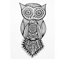 Zen Owl Photographic Print