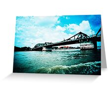 Chao Phraya river Greeting Card