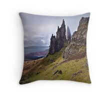 Old Man of Storr. Isle of Skye. Scotland Throw Pillow