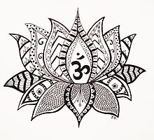 Zentangle Lotus by jodells