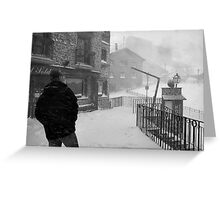 Snowstorm in Andorra Greeting Card