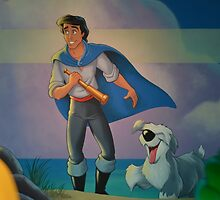 Disney Prince Eric Little Mermaid Dog Max  by notheothereye