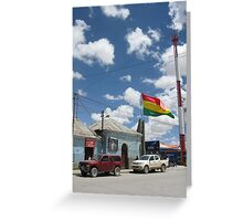 Uyuni Main Street: Bolivia Greeting Card