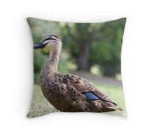 Uphill Waddle Throw Pillow